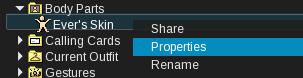 Inventory Properties