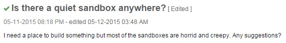 SL Answers Sandbox Question